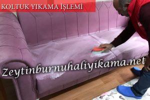 Zeytinburnu koltuk yıkama Fırçalama işlemi
